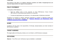 Free 15+ Attendance Policy Examples In Pdf   Google Docs inside Attendance Policy Template
