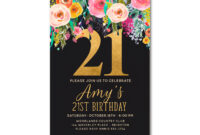 Free 21St Birthday Invitations Wording – Bagvania inside 21St Birthday Invitation Template