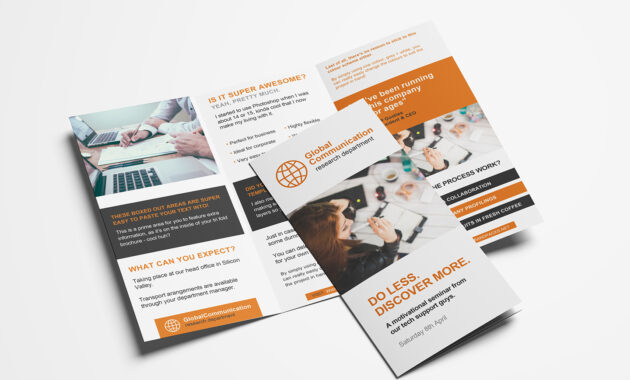 Free 3-Fold Brochure Template For Photoshop & Illustrator pertaining to 3 Fold Brochure Template Psd Free Download