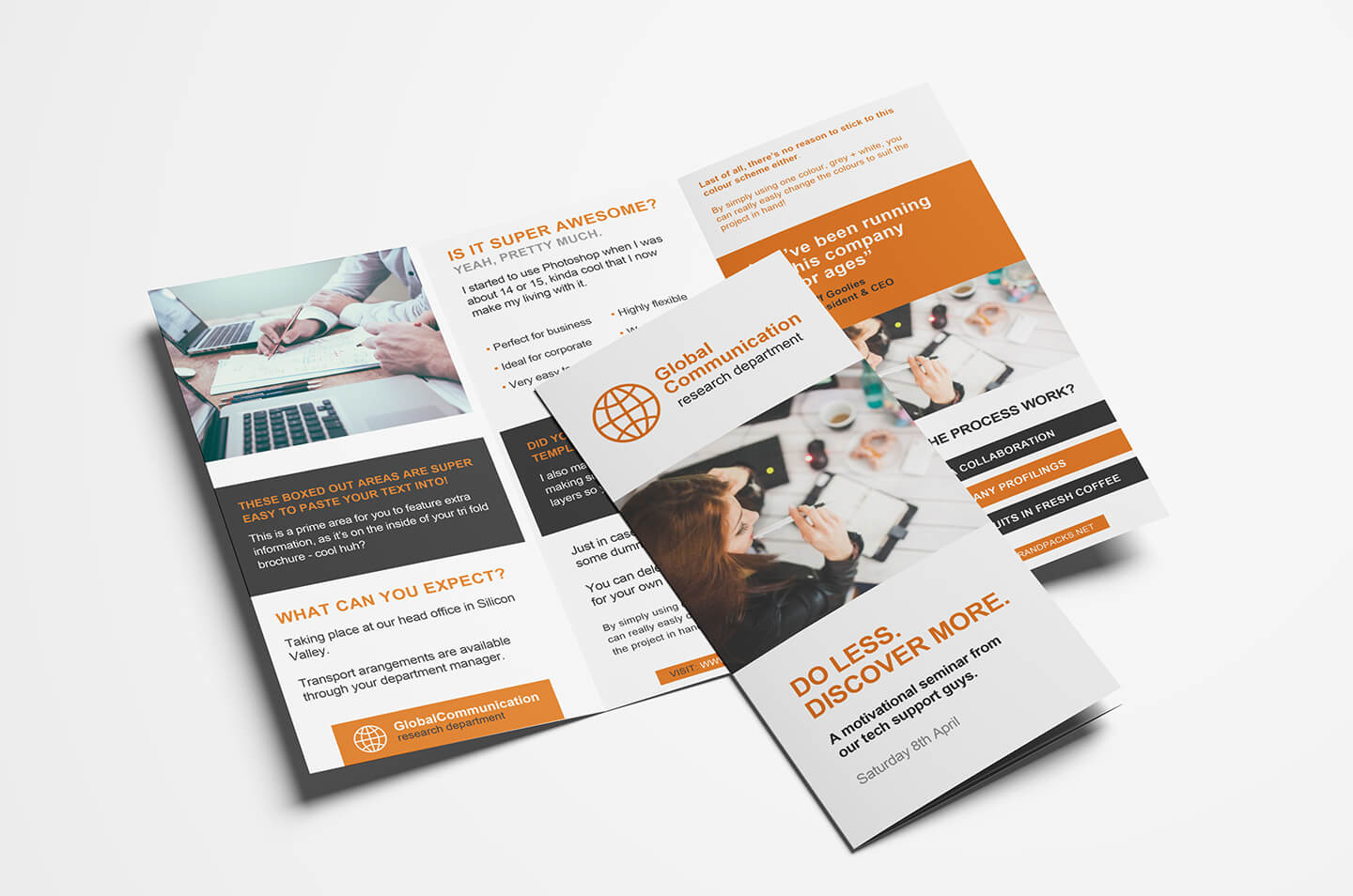 Free 3 Fold Brochure Template For Photoshop & Illustrator With 3 Fold Brochure Template Free Download