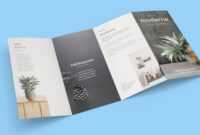 Free 4-Panel Quad-Fold Brochure Mockup Psd – Good Mockups in 4 Fold Brochure Template