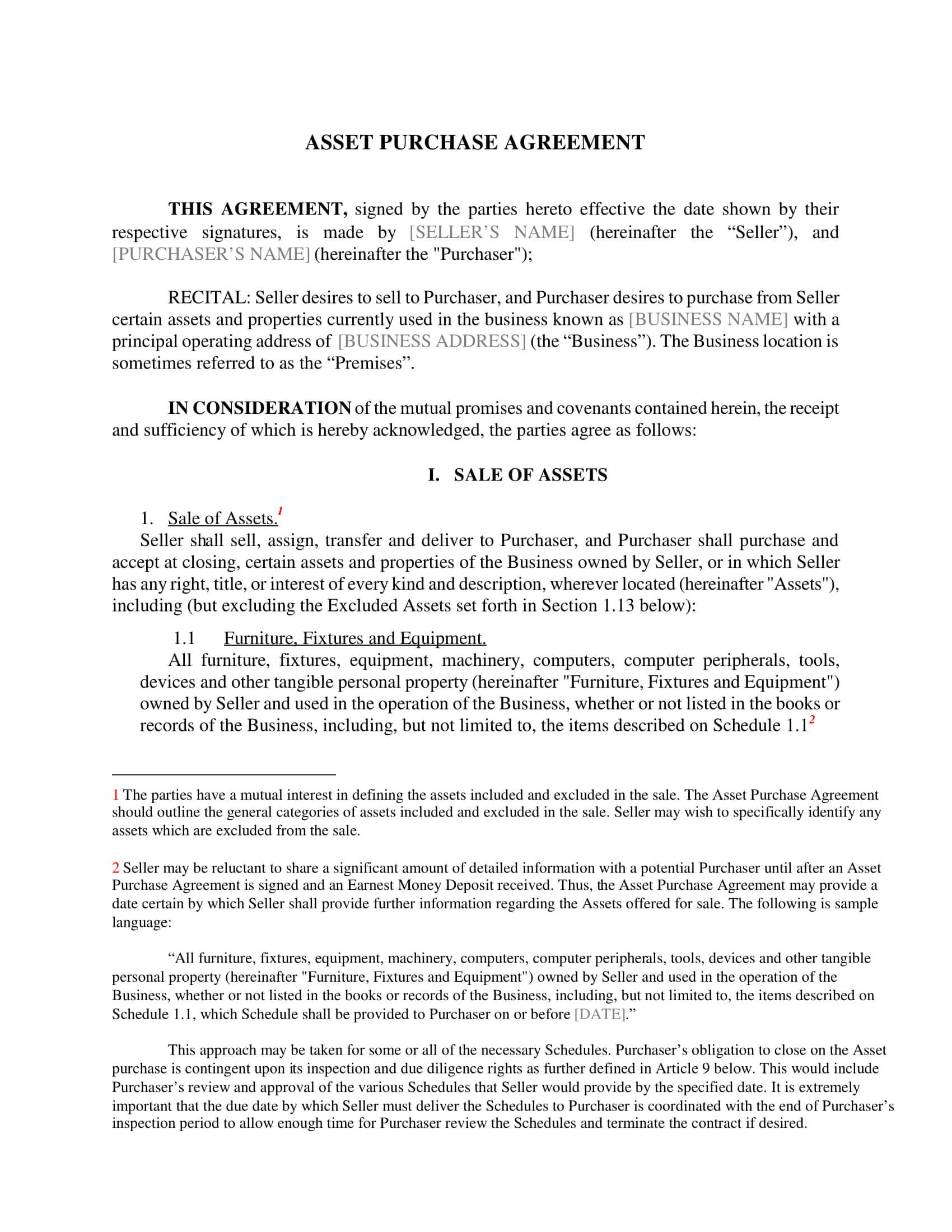 Free 5+ Asset Purchase Agreement Contract Forms In Pdf | Ms Word Within Asset Purchase Agreement Template
