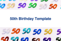 Free 50Th Birthday Party Invitation Templates pertaining to 50Th Birthday Flyer Template Free