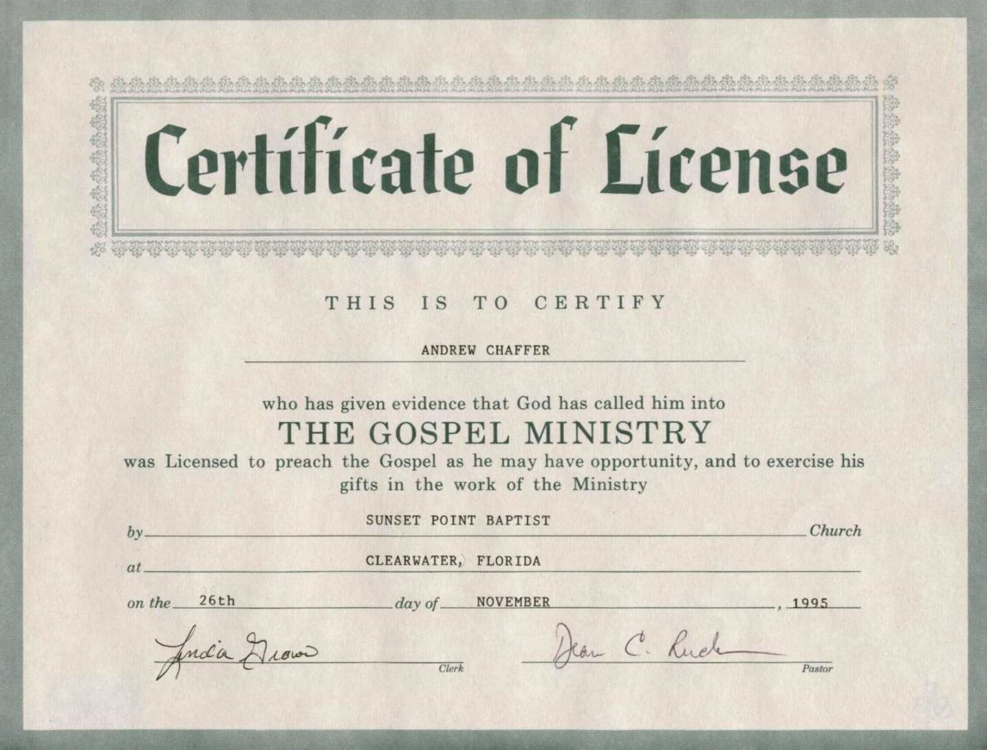 Free 8 Best Photos Of Printable Certificate Of License With Regard To Certificate Of License Template