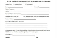 Free 8+ Sample Request For Reimbursement Forms In Ms Word | Pdf throughout Check Request Template Word