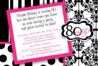 Free 80Th Birthday Invitations Templates ] – 80Th Birthday with 80Th Birthday Invitation Templates