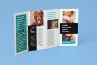 Free Accordion 4-Fold Brochure Leaflet Mockup Psd Templates for 4 Fold Brochure Template