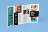 Free Accordion 4-Fold Brochure Leaflet Mockup Psd Templates intended for 4 Fold Brochure Template