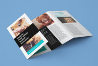 Free Accordion 4-Fold Brochure Leaflet Mockup Psd Templates with 4 Fold Brochure Template