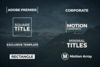 Free Adobe Premiere Template Lovely 8 Minimal Titles with Adobe Premiere Title Templates