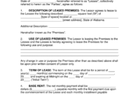 Free Alabama Commercial Lease Agreement Template – Pdf within Business Lease Agreement Template Free