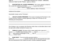 Free Arkansas Commercial Lease Agreement Template – Pdf with regard to Business Lease Agreement Template