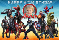 Free Avengers Birthday Tarpaulin | Dioskouri Designs regarding Avengers Birthday Card Template