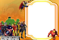 Free Avengers:endgame Birthday Invitation Templates – Bagvania regarding Avengers Birthday Card Template