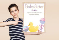 Free Babysitting Flyer Templates And Ideas   Lovetoknow intended for Babysitting Flyer Free Template