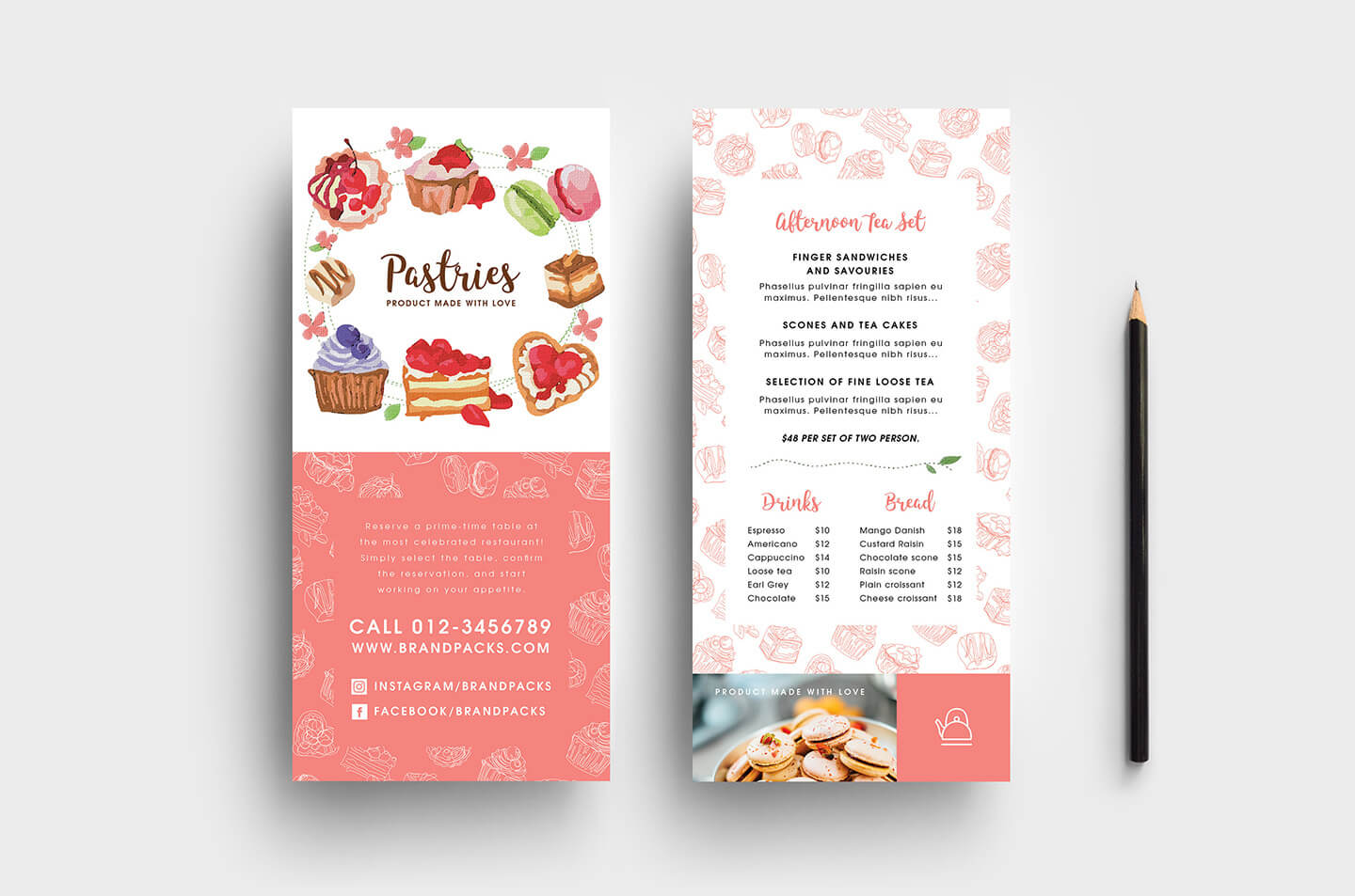 Free Bakery Dl Card Template – Psd, Ai & Vector – Brandpacks Pertaining To Cake Flyer Template Free