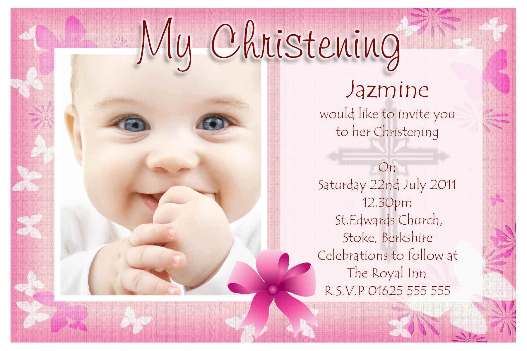 Free Baptism Invitation Template : Free Baptism Invitation With Regard To Baptism Invitation Card Template