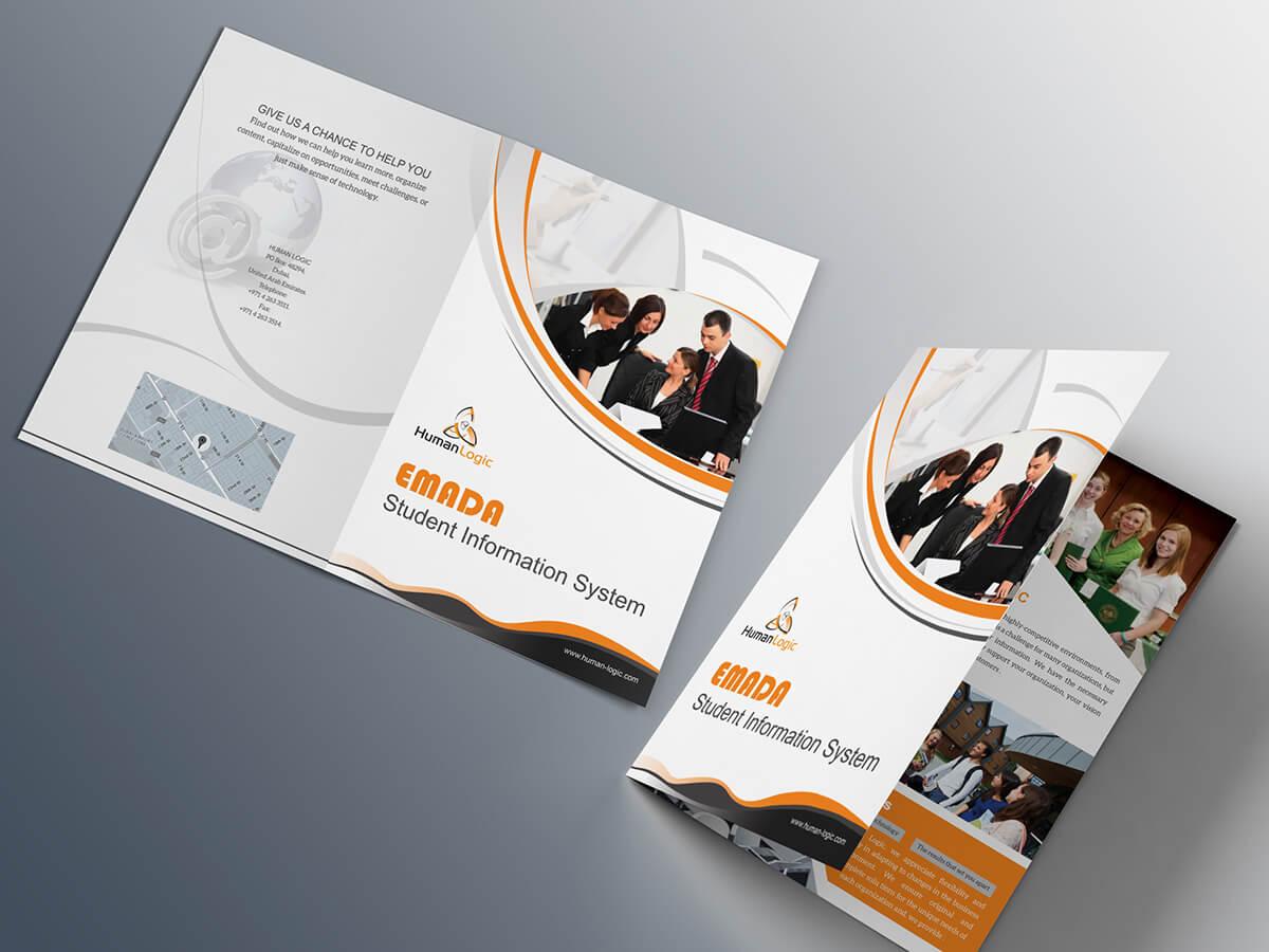 Free Bi Fold Brochure Psd On Behance For 2 Fold Brochure Template Psd