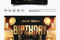 Free Birthday Party Flyer Template In Psd | Free-Psd-Templates within Birthday Party Flyer Templates Free