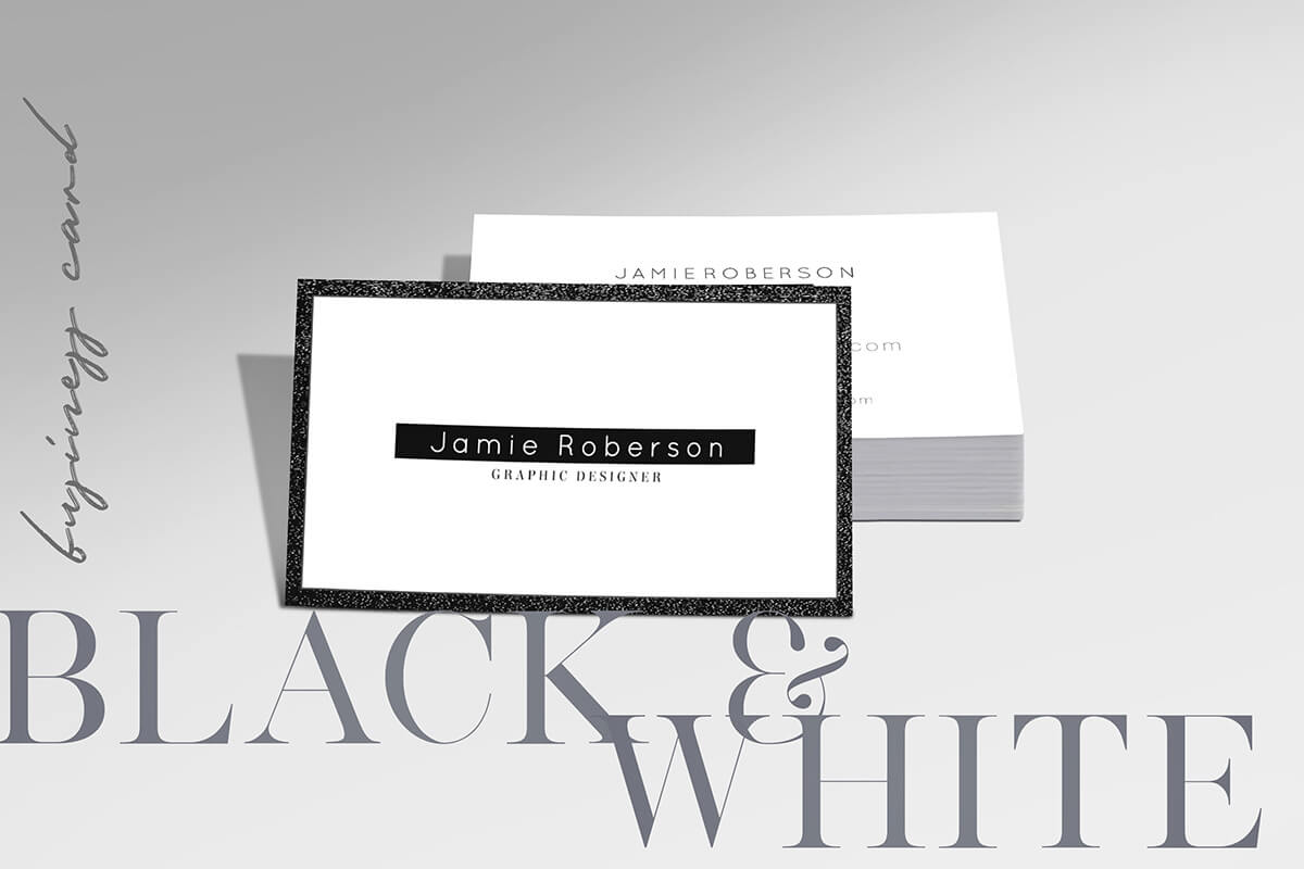 Free Black And White Business Card Psd Template – Creativetacos With Black And White Business Cards Templates Free