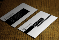 Free Black And White Business Card Template regarding Call Card Templates