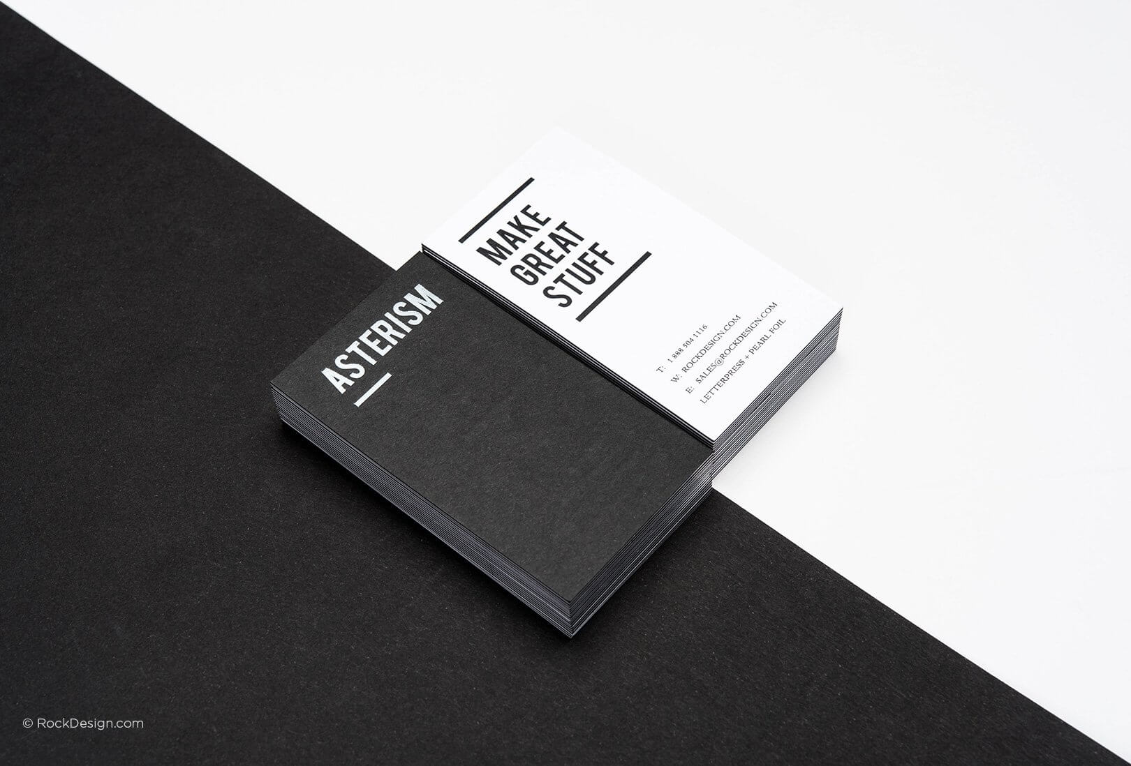 Free Black And White Business Card Templates | Rockdesign Throughout Black And White Business Cards Templates Free