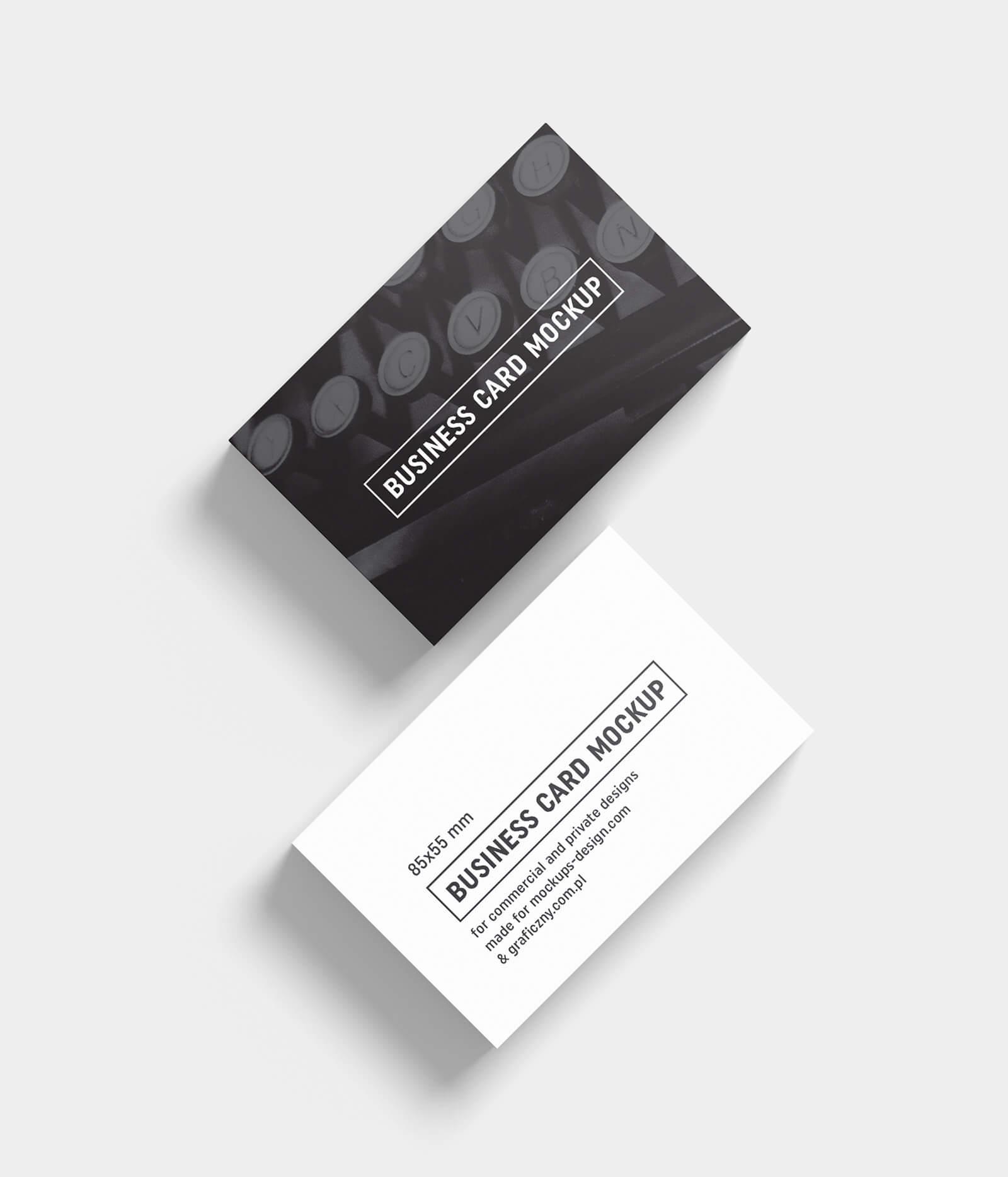 Free Black & White Business Card Mockup Psd Templates – Good In Black And White Business Cards Templates Free