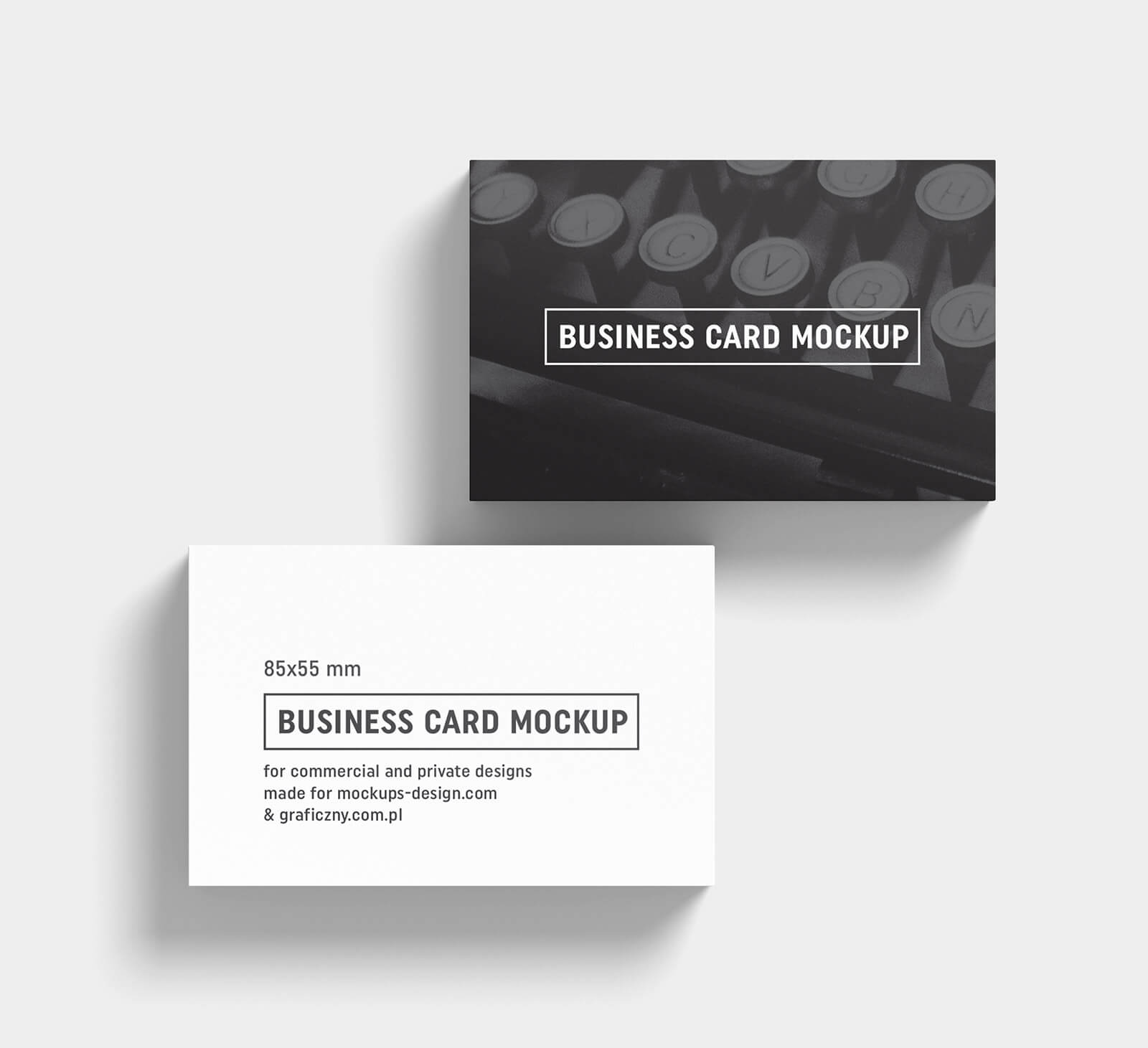 Free Black & White Business Card Mockup Psd Templates – Good Intended For Black And White Business Cards Templates Free