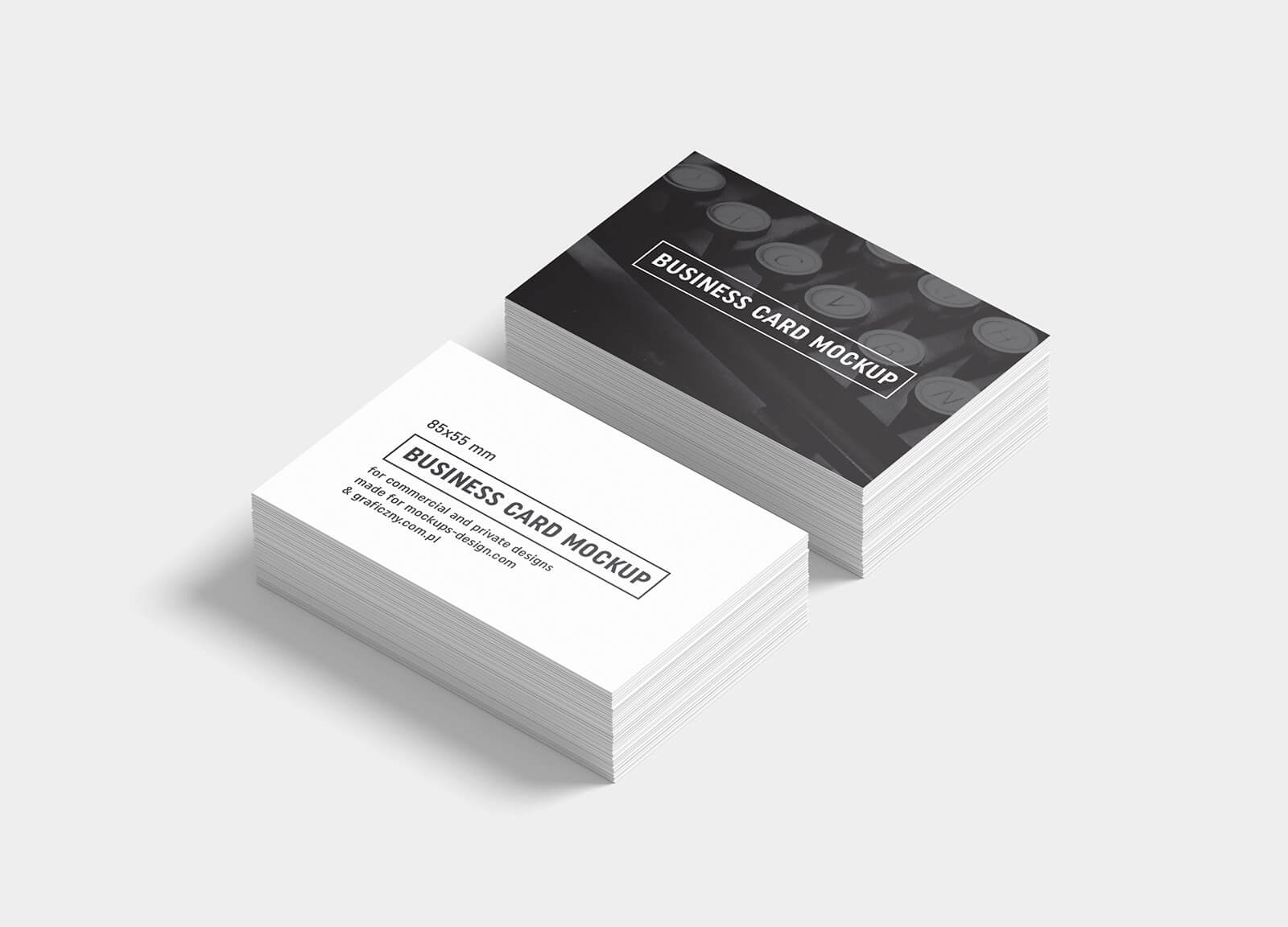 Free Black & White Business Card Mockup Psd Templates – Good Throughout Black And White Business Cards Templates Free