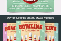 Free Bowling Tournament Flyer | Free-Psd-Templates pertaining to Bowling Flyers Templates Free