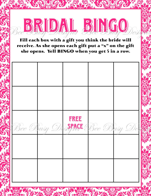 Free Bridal Bingo Template ] - Bridal Shower Bingo Template Inside Blank Bridal Shower Bingo Template