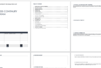 Free Business Continuity Plan Templates   Smartsheet pertaining to Business Continuity Plan Template Canada