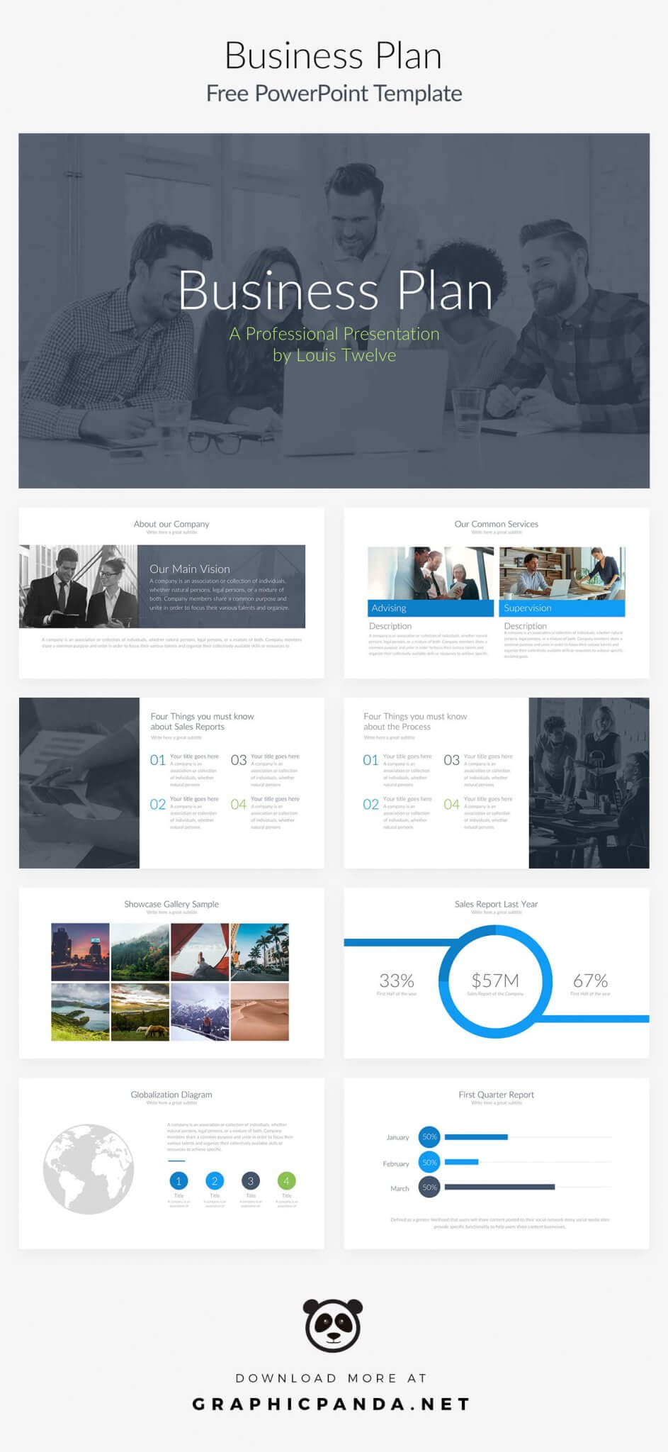 Free Business Plan Powerpoint Presentation Template For Business Plan Presentation Template Ppt
