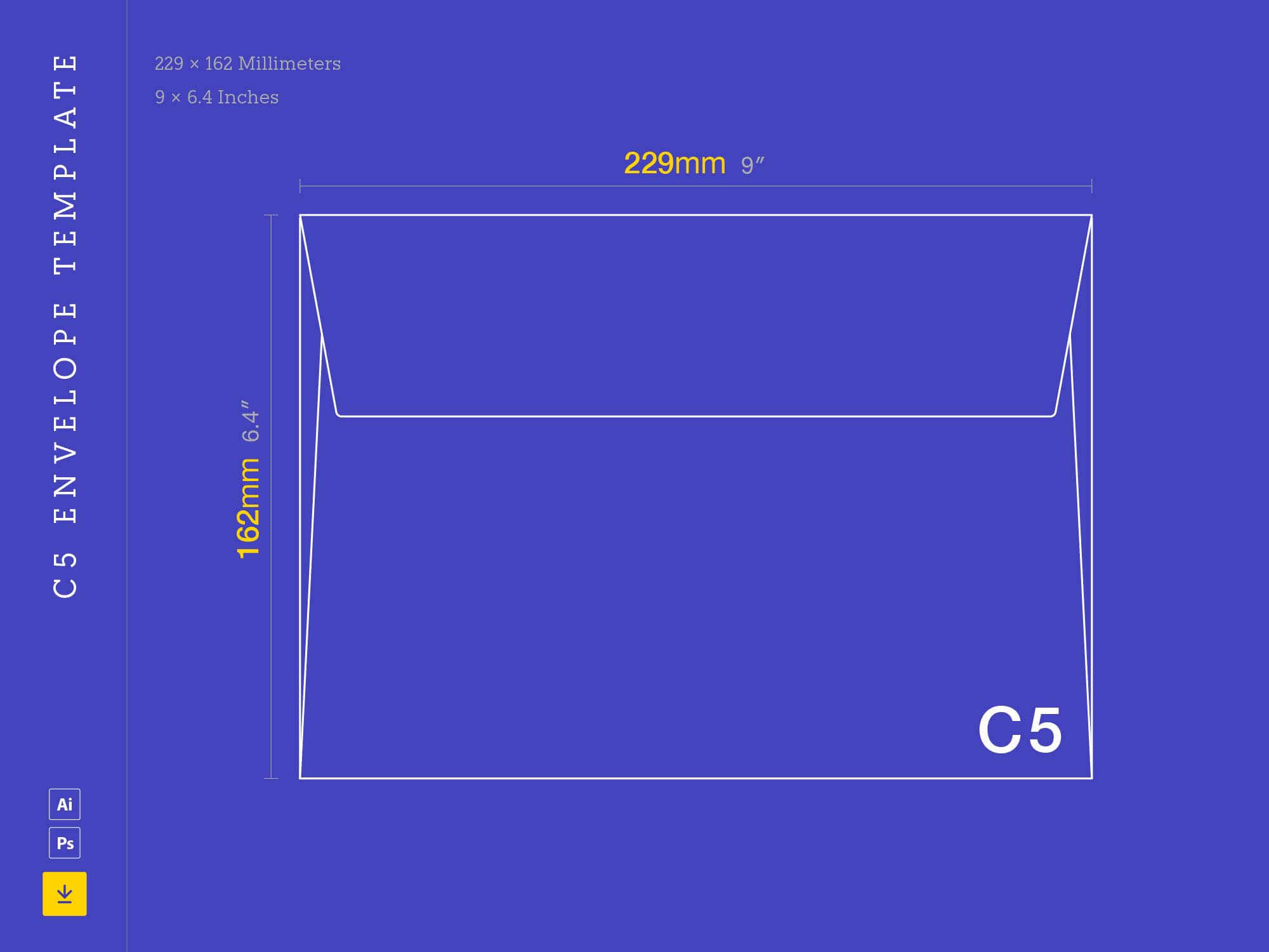 Free C5 Envelope Template (Ai, Psd) Regarding Business Envelope Template Illustrator