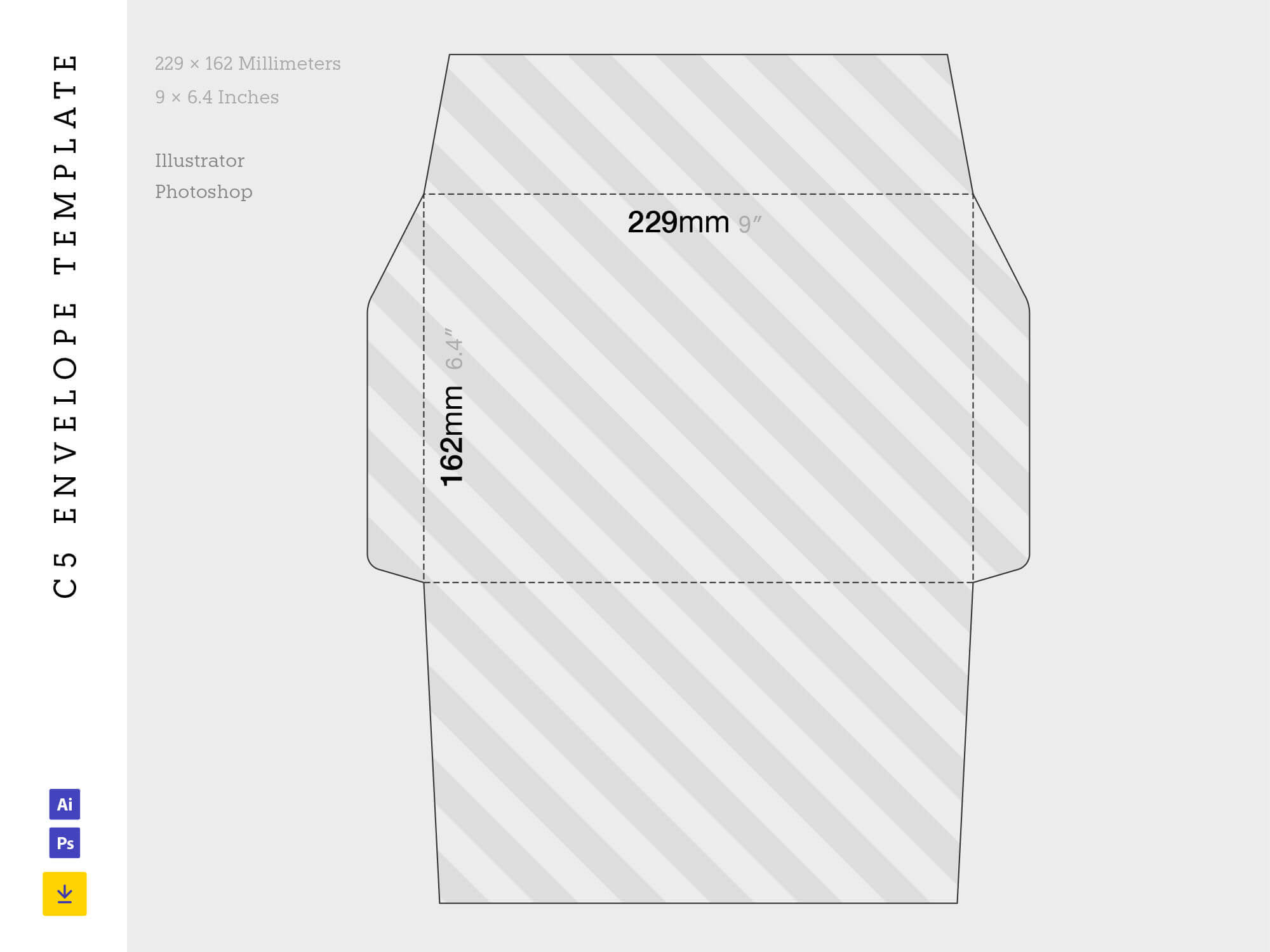 Free C5 Envelope Template (Ai, Psd) With Business Envelope Template Illustrator