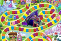 Free Candyland Board Game Clipart within Blank Candyland Template