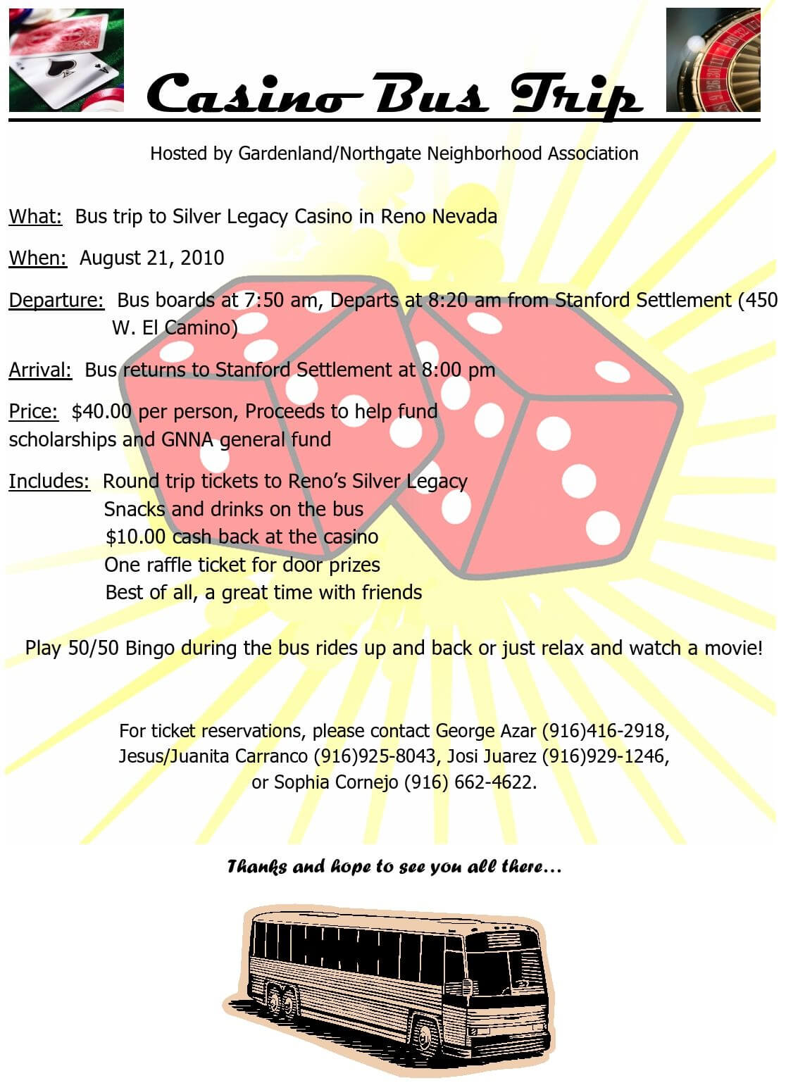 Free Casino Trip Flyer Template : Best Casino Online In Bus Trip Flyer Templates Free