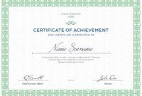 Free Certificates Templates (Psd) regarding Certificate Of Accomplishment Template Free