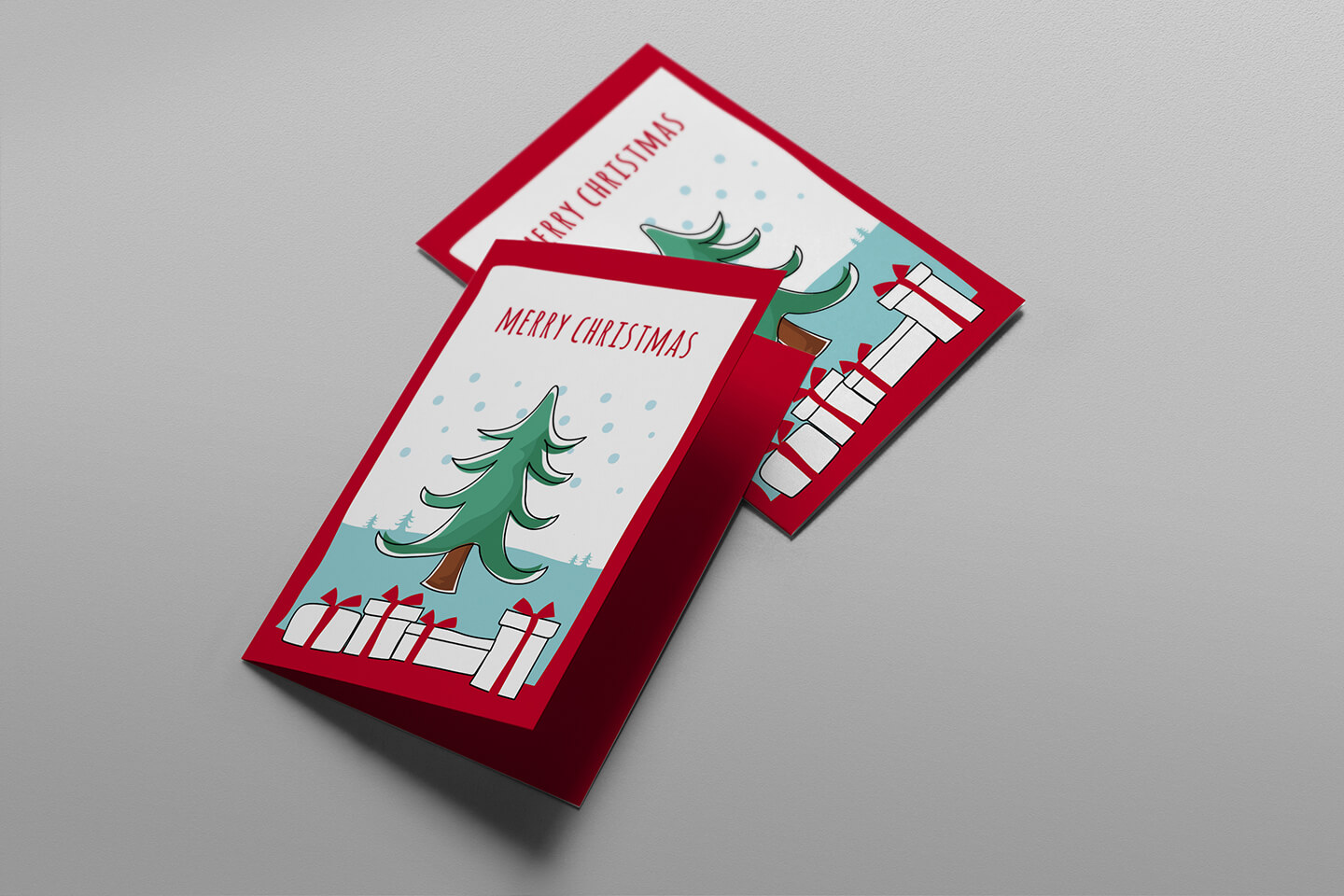 Free Christmas Card Templates For Photoshop & Illustrator In Adobe Illustrator Christmas Card Template