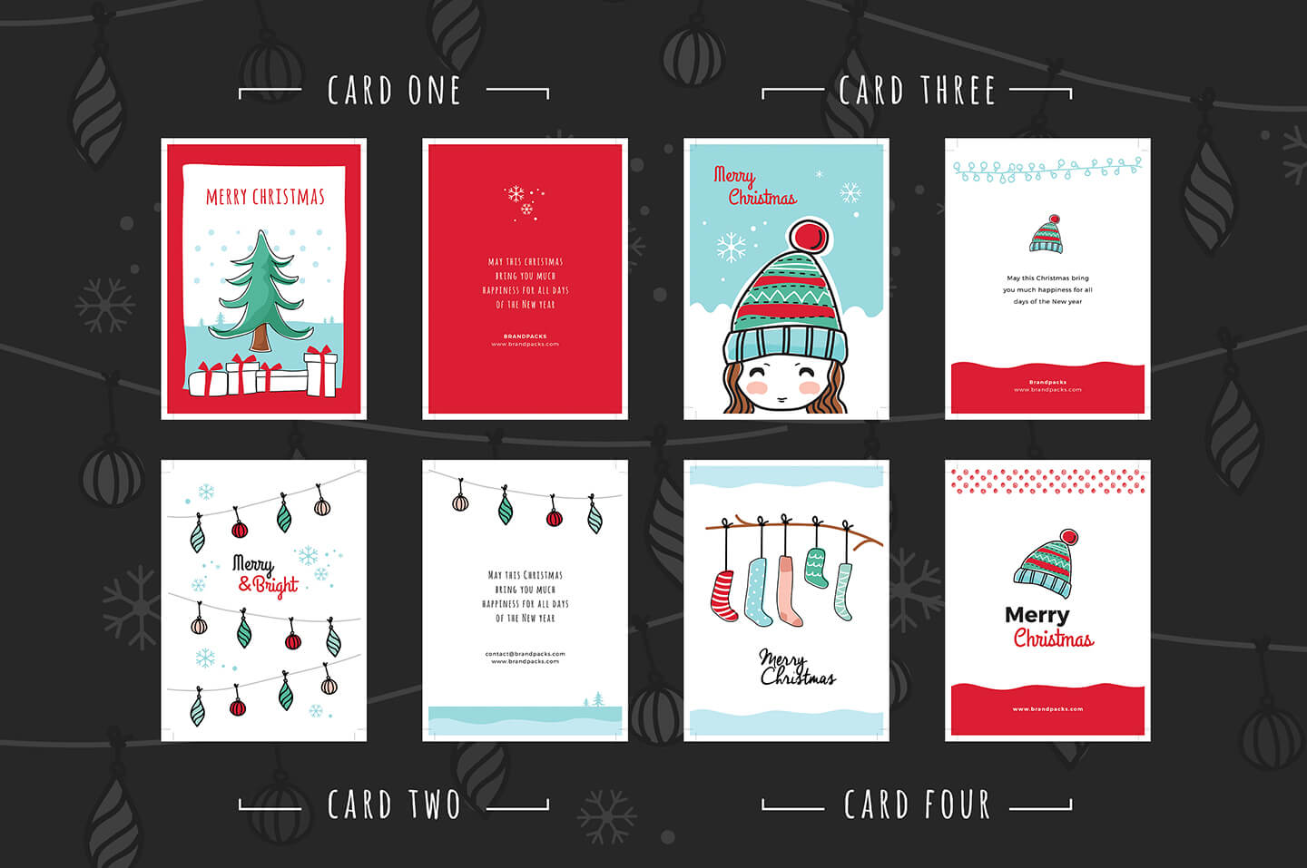 Free Christmas Card Templates For Photoshop & Illustrator Inside Adobe Illustrator Christmas Card Template
