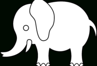 Free Elephant Outline Cliparts, Download Free Clip Art, Free regarding Blank Elephant Template
