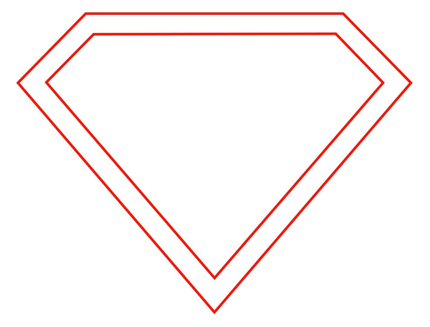 Free Empty Superman Logo, Download Free Clip Art, Free Clip For Blank Superman Logo Template
