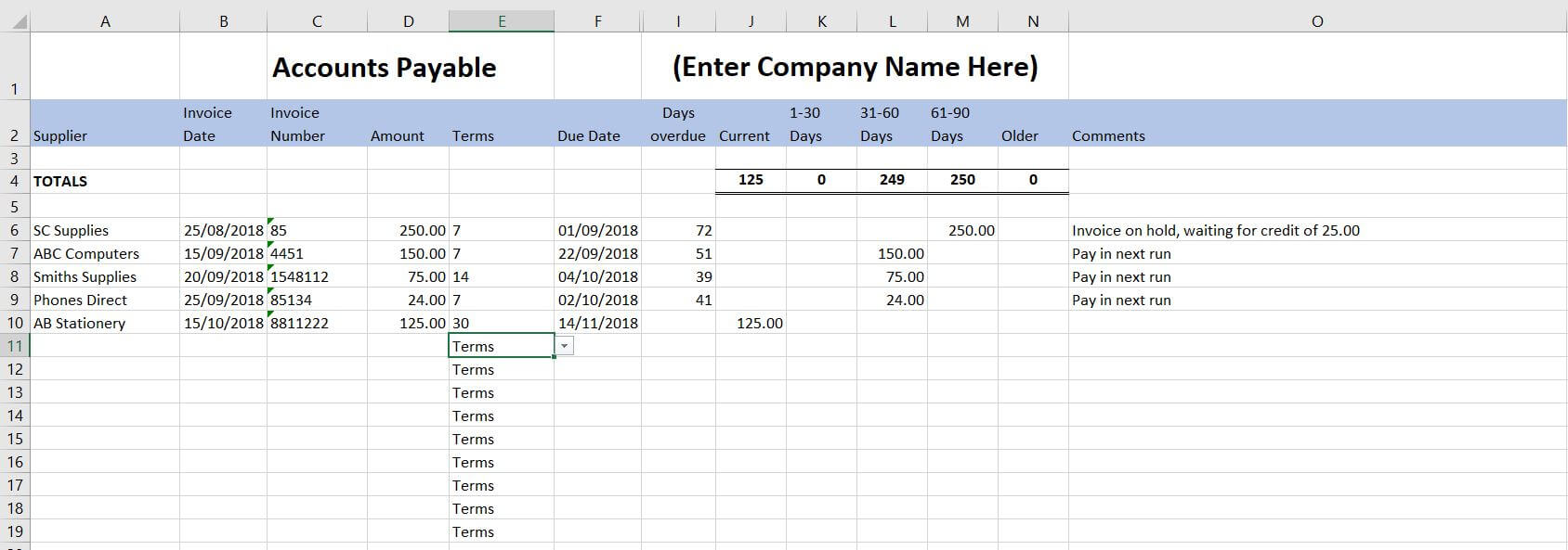 Free Excel Bookkeeping Templates - 14 Accounts Spreadsheets With Bookkeeping For A Small Business Template