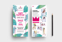 Free Fashion Boutique Rack Card Template For Photoshop within Boutique Flyer Template Free