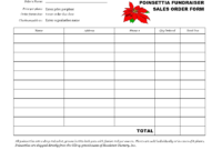 Free Fundraiser Order Form Template ] – Fundraising Template pertaining to Blank Sponsorship Form Template
