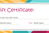 Free Gift Certificate Templates You Can Customize Within in Certificate Template For Pages