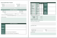 Free Incident Report Templates & Forms | Smartsheet throughout Accident Report Form Template Uk