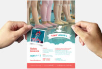 Free Kid's Ballet Templates For Photoshop & Illustrator for Benefit Dance Flyer Templates