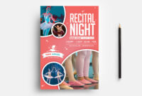 Free Kid's Ballet Templates For Photoshop & Illustrator throughout Benefit Dance Flyer Templates