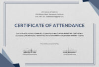 Free Knowledge Sharing From The International Trainer And inside Certificate Of Attendance Conference Template